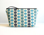 Cosmetic Case Makeup Bag Zipper Pouch Porch Blue Dots Denyse Schmidt County Fair