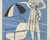 Butterick Fashion News August 1940 pattern booklet in PDF