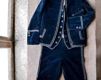 Victorian Boys Three Piece Velvet Suit