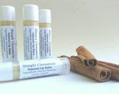 Cinnamon Lip Balm, Organic Lip Balm, Natural Lip Balm, Clear Lip Balm, No Color Lip Chap, Lip Balm Tube, Organic Lip Bal, Dye Free Lip Balm