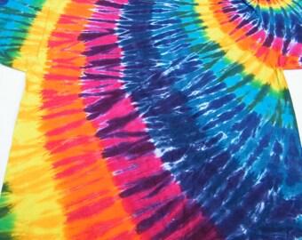 tie dye shirt  Rainbow Swirl shirt tye die CUSTOM made to order tiedye shirts