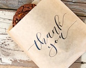 Thank You Favor Bag - Calligraphy Thanks - Budget Favor Bag - Cookies and Candy Favor  - 20 Bags