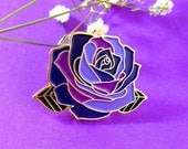 Witchy Purple Rose - Enamel Pin