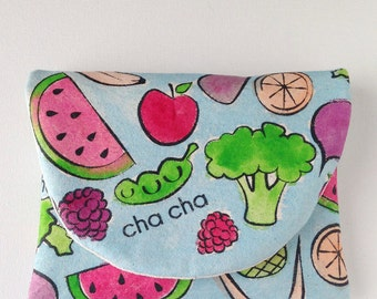 Hand Painted Fruit & Veggie Clutch