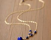 """Custom Listing for Valene Spalk - 7"""" extra chain - September Birthstone Necklace in 14k Gold Fill"""