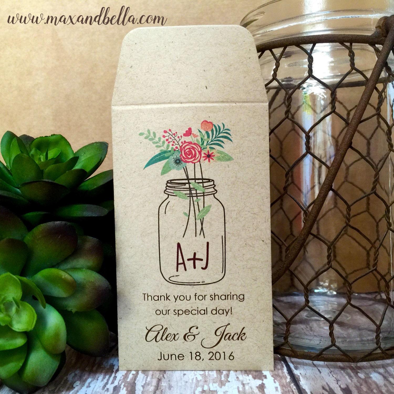 DIY Custom Seed Packets Envelope Kraft Personalized Envelopes Wedding Favors Bridal Shower Packet Let Love Grow