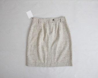 flecked wool skirt | wool pencil skirt | vintage wool skirt