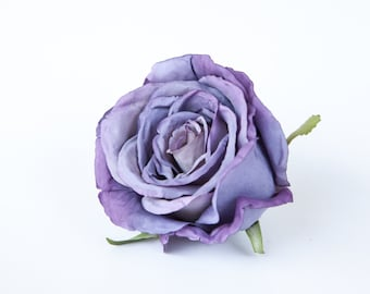 Stunning Large Rose in Royal Purple - Silk flowers, artificial flowers, artificial flower, silk flower - ITEM 0878
