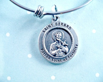 Fertility Saint Gerard, Patron Saint of Fertility, Pregnancy Saint, Childless Couples, Adjustable Size, Fertility, Pregnancy