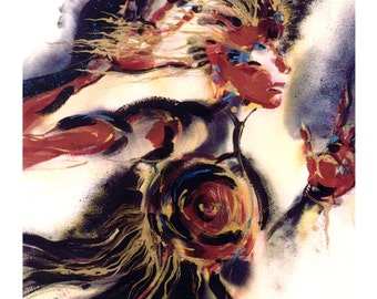 Warrior Woman ... Spiritual Goddess art archival print from original painting by Kathy Morton Stanion EBSQ