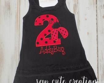 Ladybug Birthday Dress, Ladybug dress, Lady bug Birthday Dress,  Lady bug dress, Ladybug outfit, Personalized, sew cute creations