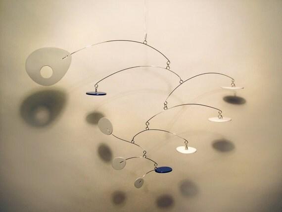 Calder Inspired Modern Art Hanging Mobile Eliptusmobius Small Best Baby Mobile For Nursery Home Decor