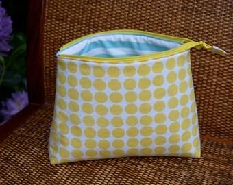 Knitting Bag with Zipper, Polka Dot Bag