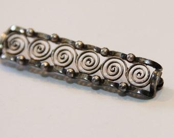 835 Silver spiral brooch