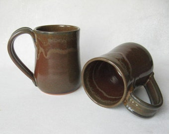 Pottery Mugs 14 oz Set of 2