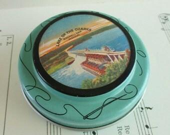 Little Souvenir Sewing Tin - Lake of the Ozarks - Bagnell Dam, Missouri