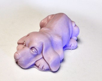 Beagle Dog Soap  - Lavender Blossoms Scent - Floral Goat's Milk Soap - Totally Handcrafted - Dog Lover's Soap - Purple Beagle