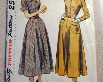 Vintage Simplicity 2617, Misses' Dress Pattern 1948, *Bust 36*