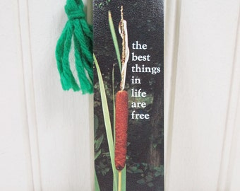 Vintage Paper Bookmark Antioch Bookplate Co. H-138 1975 Best Things In Life Are Free