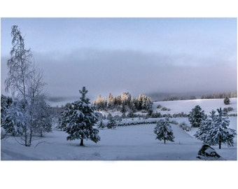 Landscape Photography Winter Sunrise Rag Paper Archival Print