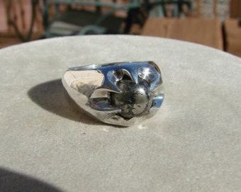 70% OFF Going Out of Business Sale.. Moonscape - Sterling Silver Ring- Size 8.25