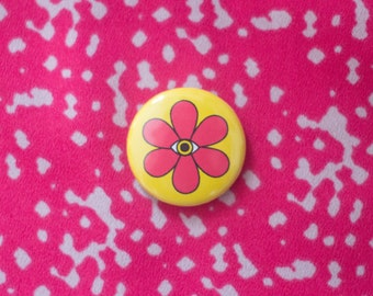 All Seeing Flower Power One Inch Button