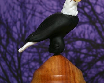 Bald Eagle Lampwork glass wildlife sculpture and bead by Cleo Dunsmore Buchanan - GramaTortoise 16 art sculpture wildlife art collectible