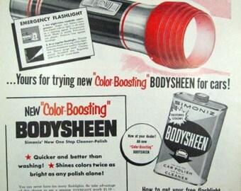 Eveready Flashlight Little Lulu Kleenex Vintage Advertising Ad Wall Art Decor E117