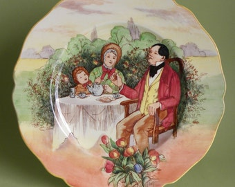 Royal Doulton Series Ware Plate - A Hundred Years Ago
