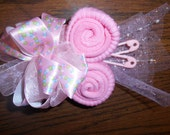 Baby Shower Corsage Pink with pink Trim or Any Color or will custom make