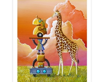 Robot Series Limited Edition - Robots On Safari - Signed 8x10 Semi Gloss Print (6/10)