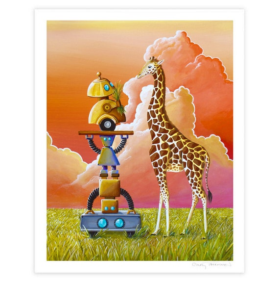 Robot Series Limited Edition - Robots On Safari - Signed 8x10 Semi Gloss Print (6/10)