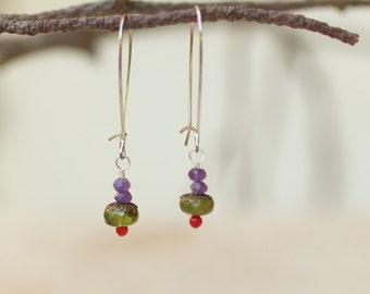 Colorful Earrings READY To SHIP Boho Jewelry Boho Earrings Dangle Earring Drop Earring Semiprecious Stone Gift for Her Gift for Bride