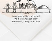 Portland, Oregon Custom Return Address Stamp