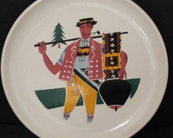 Vintage Landert Moritz Kennel Fondue Plate SWISS 5019/162, Landert of Switzerland, Signed & Numbered,