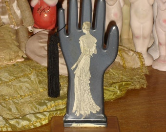 Vintage Glove Mold Hand Jewelry Display 1930s