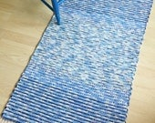 BLUE SKIES -- Handwoven rug in shades of blue