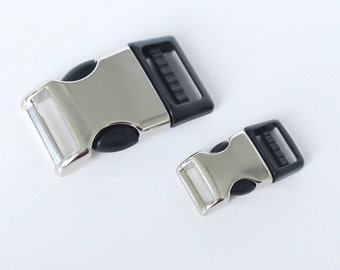 """Hybrid Plastic and Metal Side Release Buckle -- 1"""" and 5/8"""" width -- Quantity 1 - 10"""