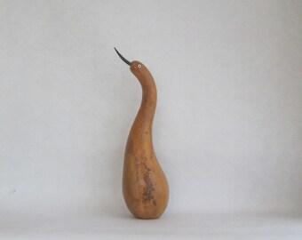 Marsh Bird Gourd Sculpture