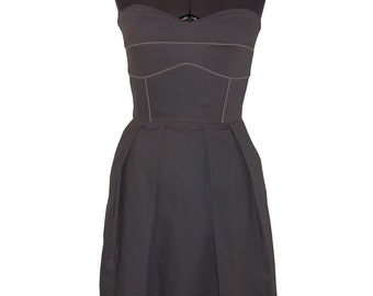 Charcoal Gray Strapless Dress