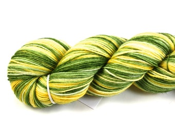 Spring Fling--SALE--hand dyed sock yarn, BFL and nylon, (464yds/100gm)