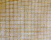 Yellow Check Cotton Fabric 44 wide, by the yard, washed