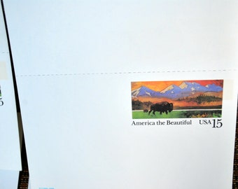 1988 USPS Lot of 12 America the Beautiful Unused Postcards Pre-Stamped 15 Cents