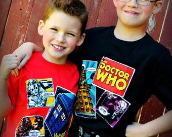 Boys Doctor Who shirt Dr. Who shirt boys 4/5 6/6x 7/8 10/12 and 14/16