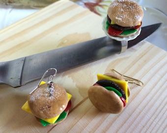 Yummy Junk Food Cheeseburger Ring