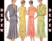 Vintage Sewing Pattern Reproduction Ladies' 1930s Dress & Bolero #3054 - INSTANT DOWNLOAD