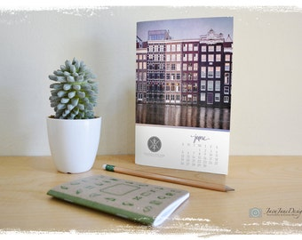 2018 Desk Calendar Photoshop TEMPLATE, Clean and Modern Design, Calendar Template, Client Gift or For Sale, Commercial Use, Instant Download