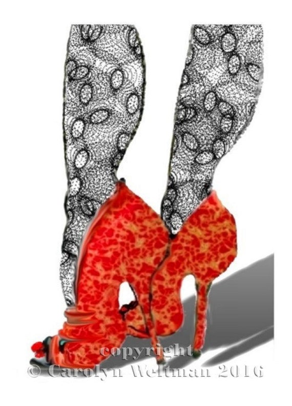 Special Offer - 3 Prints Gift Set of Hand Decorated Shoes