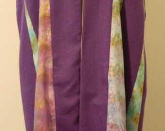 SALE! 50% OFF Shibori Dyed Cotton and Wool Tibetan Panel Coat in Purple, Bronze, and Turquoise