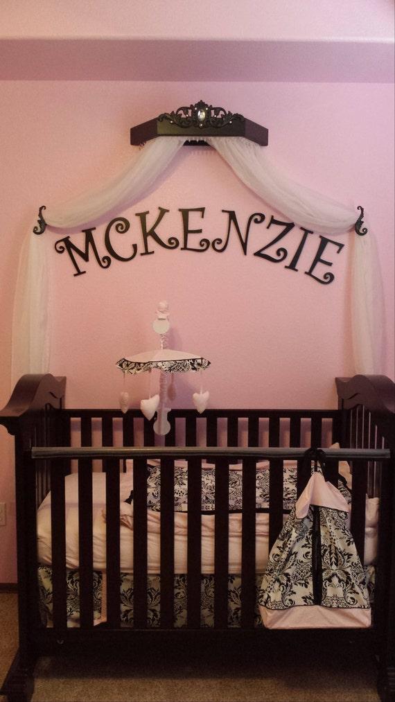 Baby Nursery Decor Canopy Crib Bed Crown Nursery Pink And